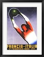 Framed Francia Italia Foot Ball 1935