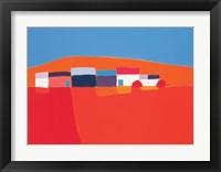 Framed Paysage Orange