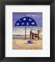 Sandcastles By The Sea Framed Print