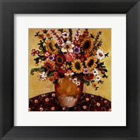 Framed Golden Vase Floral
