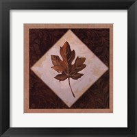 Framed Diamond Leaves I