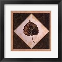 Diamond Leaves III Framed Print