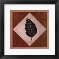 Diamond Leaves IV Framed Print