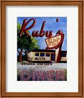 Framed Ruby's Diner