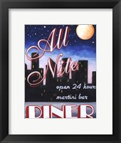 Framed All Nite Diner