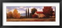 Framed Burgundy Farmhouse I