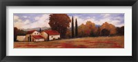 Framed Burgundy Farmhouse II