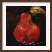Framed Red Pear