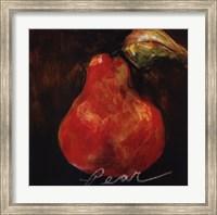 Framed Red Pear