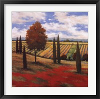 Framed Chianti Country I