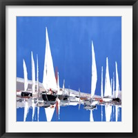 Framed Voile Blanches II