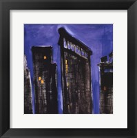 Blue Cityscape Framed Print