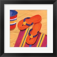 Framed Orange Flip Flops