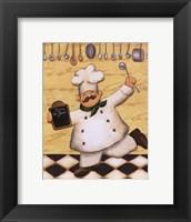 Framed Le Chef Et Le Menu