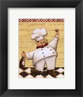 Le Chef Et Le Vin Framed Print