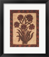 Global Flowers I Framed Print