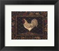 Framed Old World Rooster - Mini