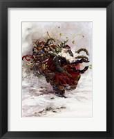 Windswept Santa Framed Print