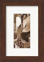 Framed Giraffe Abstract