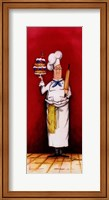Framed Chef With Pastry