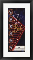 Lucky's Bar Framed Print