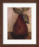 Framed Red Pear On Beige