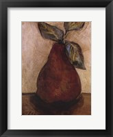 Framed Red Pear On Beige