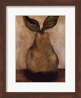 Framed Golden Pear On Beige