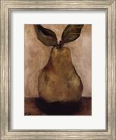 Framed Golden Pear On Beige