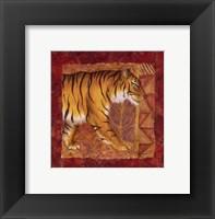 Tiger Safari Framed Print