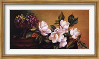 Framed Magnolia With Grapes
