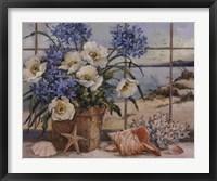 Seaside Cottage Framed Print