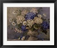 Blue and White Delight Framed Print