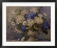 Blue and White Delight Framed Print