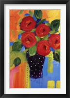 Spring Blooms In Blue Vase II Framed Print