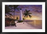 Framed Lighthouse-Key Biscayne