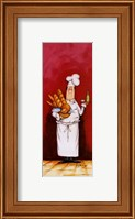 Framed Chef With Bread And Oil