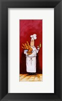 Chef With Bread And Oil Framed Print