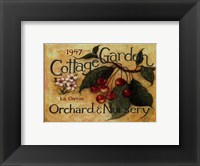 Framed Cottage Garden III