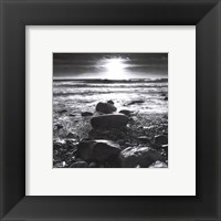 Framed Sun Surf Rocks