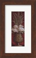 Framed Tall Red Floral I