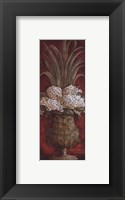Framed Tall Red Floral I