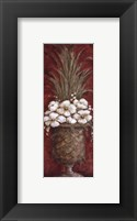 Tall Red Floral II Framed Print