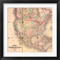 Framed American Republic,1842A