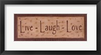 Framed Live Laugh Love