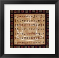 Coffee Word Search Framed Print