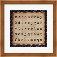Framed Home Sweet Home Word Search