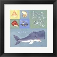 Love As Deep As The Sea Framed Print
