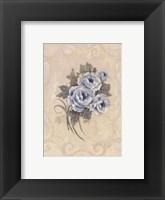 Framed Roses Azure
