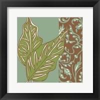 Framed Nouveau Leaves I